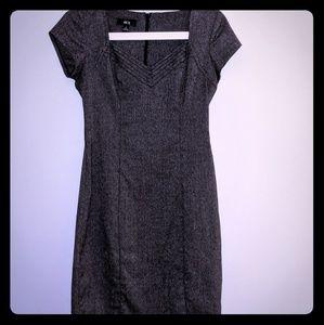 Adorable Charcoal Grey Work Dress